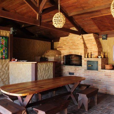 Sala social com churrasqueira foto 1
